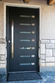 Custom Steel Exterior Doors Stainless Steel Modern Entry Entrance Store Front Timber Glass