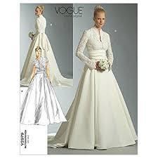 vogue wedding dress patterns vogue patterns v2979 size fw 18 20 22 misses misses