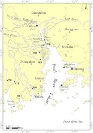Yellow River Map Map Of Pearl River Estuary