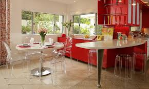 Red Kitchen Table And Chairs The Louis Ghost Chair A Modern Balance Of Design Elegance And