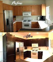 Painting Oak Kitchen Cabinets Ideas Refinish Oak Kitchen Cabinets Kitchen Oak Cabinets White Refinish