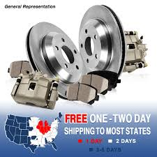 rear oe brake calipers and rotors pads kit 2003 2004 2005 2006