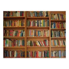 Bookshelf Background Image Bookshelf Posters Zazzle