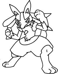 Coloriage Lucario Pokemon à imprimer sur COLORIAGES info