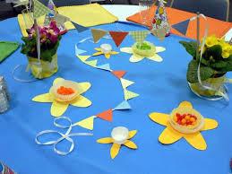 three paper garland decorations