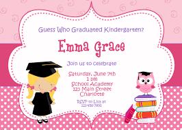 Graduation Invitation Cards Designs Kindergarten Graduation Invitations Kawaiitheo Com