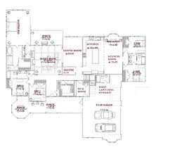 side split floor plans appealing one story house plans with bonus room contemporary