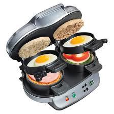 Sandwich Toaster Online Hamilton Beach Double Breakfast Sandwich Maker 25490 Target