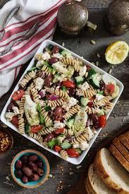mediterranean pasta salad vegan u0026 gf vegan huggs