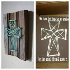 nail and string art one time i did this and spray painted the