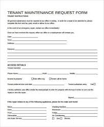 maintenance request form template maintenance request form sles 8 free documents in word pdf