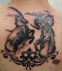 aries vs capricorn tattoo design real photo pictures images and