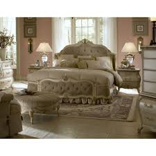Aico Bedroom Furniture Michael Amini Lavelle Blanc King Size Mansion Tufted Bed By Aico