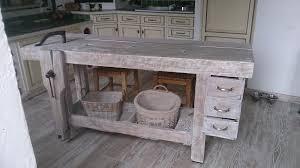 etabli cuisine ancien établi de menuisier relooké en table de cuisine relooking