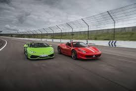 lamborghini huracan vs 458 458 vs huracan supercar driving experience package driving gift