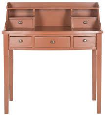 safavieh landon writing desk white amh6516g desks furniture by safavieh