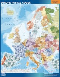wall maps europe postal codes wall map our cartographers made europe
