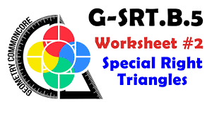 g srt b 5 worksheet 2 special right triangles youtube