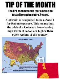 United States Radon Map by Radon Zone Map Of The United States Focus On Colorado What Is