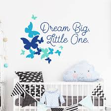 nursery wall sticker quotes dream big little one nursery quote wall decal sticker