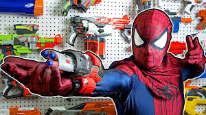 nerf war spiderman homecoming with loop control youtube for