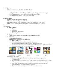 lesson plan example for high english