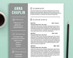 customizable resume etsy