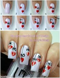 robin moses nail art valentines day nail art red heart nails 50