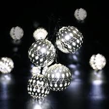 String Ball Lights by Garden Lighting Solar Elegant Copper Ball String Lights With