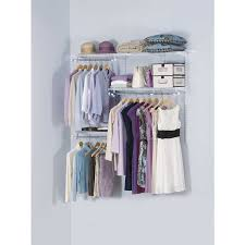 Rubbermaid Closet Organizer Parts Shop Rubbermaid Homefree Series 3 Ft To 6 Ft White Adjustable