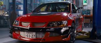 mitsubishi evo 8 red 2006 mitsubishi lancer evolution ix the fast and the furious