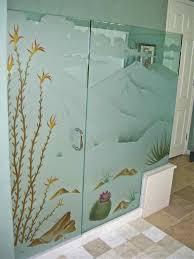 etched glass shower door designs etched glass showers sans soucie art glass