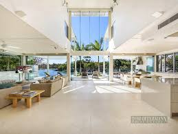 amazing home interior waterfront modern villa for summer noosa heads australia