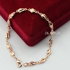 rose gold color bracelet images 4mm rose plant strand flowers bracelet rose gold color filled hand jpg