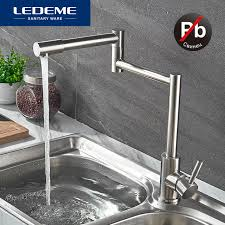 lead free kitchen faucets ledeme stainless steel kitchen faucet lead free folding mixer 360