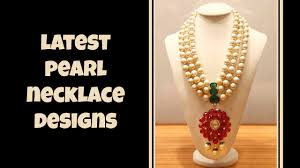 necklace pearl designs images Latest pearl necklace designs jpg