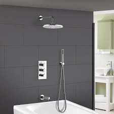 bathroom 3 dial 3 way concealed round thermostatic shower mixer