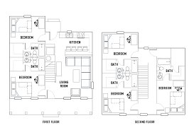 cottages floor plans floor plans the cottages of durham student housing durham nh