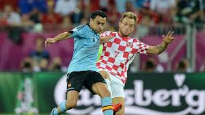Pertandingan Grup C Kroasia vs Spanyol