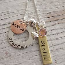personalized mothers necklace buy personalized s necklace sted jewelry 2 or 3