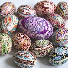 egg ornament pysanka ukrainian easter egg batik decorated chicken egg christmas