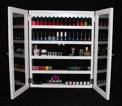 nail polish rack large roxy w door bead craft paint by foxclaws