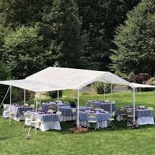 10 X 20 Shade Canopy by Outdoor Canopy Gazebo Tent Party Wedding 10 U0027x20 U0027 White Extender 24