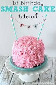 how to make a cake for a girl 1st birthday smash cake tutorial simple vanilla cake recipe