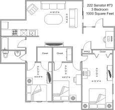 1000 Sq Ft Apartment by Graduate Family University Of Cincinnati