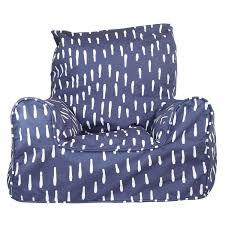 Bean Bag Sofa Pattern Indigo Raindrops Chair Kids Bean Bags Bean Bags Australia