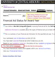 student financial services university of central missouri