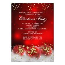 christmas party invitations gold baubles christmas party card christmas
