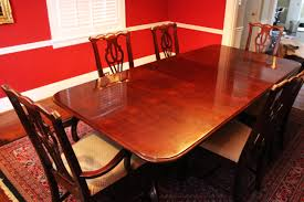 thomasville cherry formal dining room set cherry tables chairs