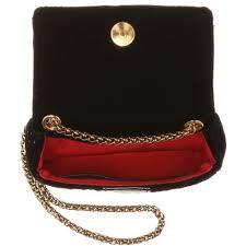 christian louboutin velvet shoulder bag in black lyst